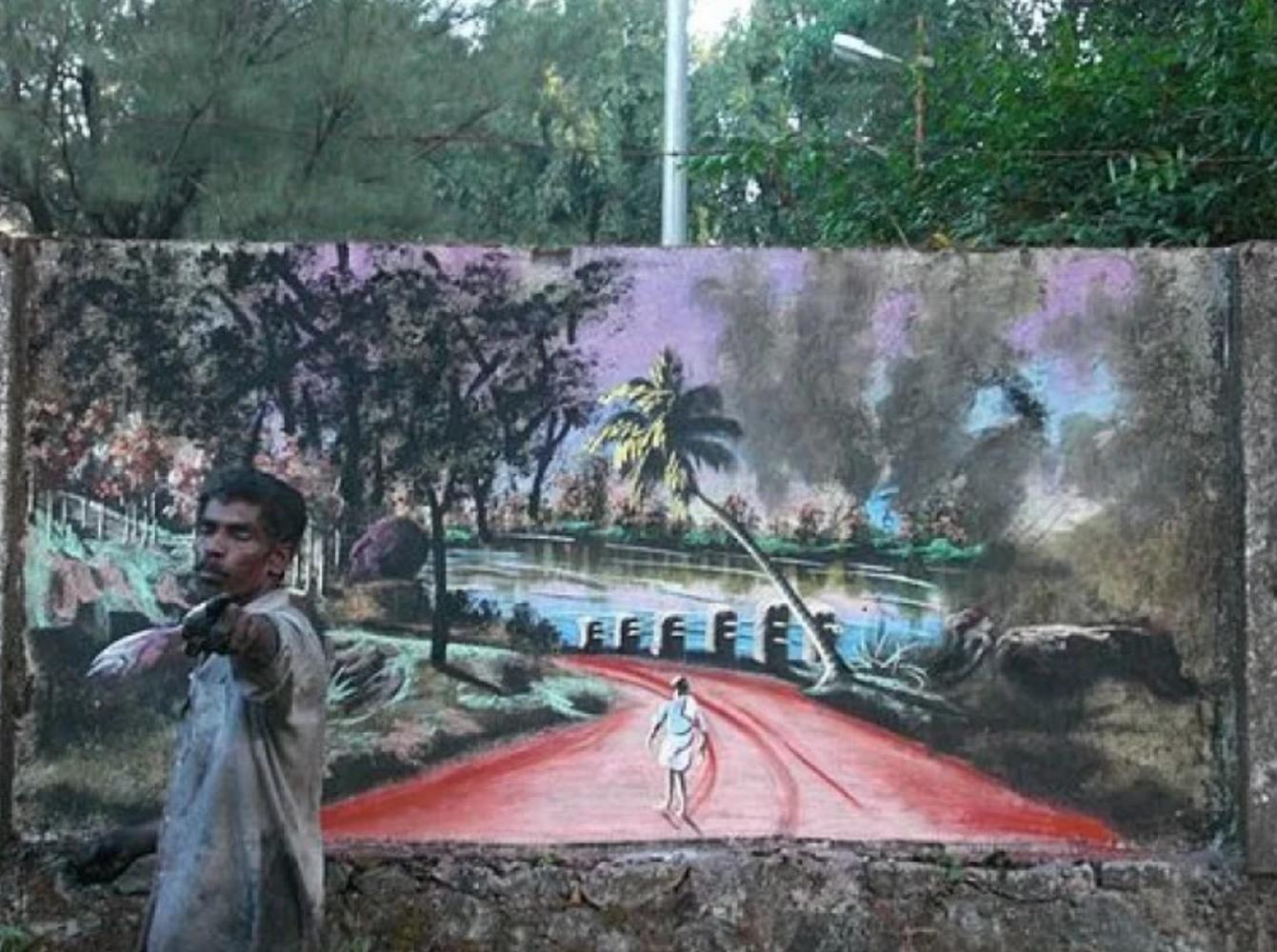artista de rua índia 2