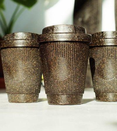 Esta startup está fazendo copos com grãos de café reciclados
