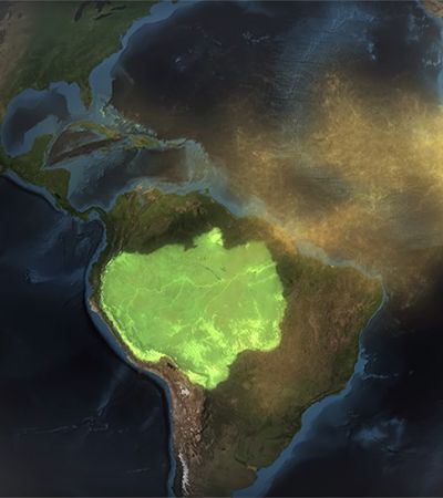 Vídeo da NASA mostra como Amazônia é fertilizada pelo deserto do Saara