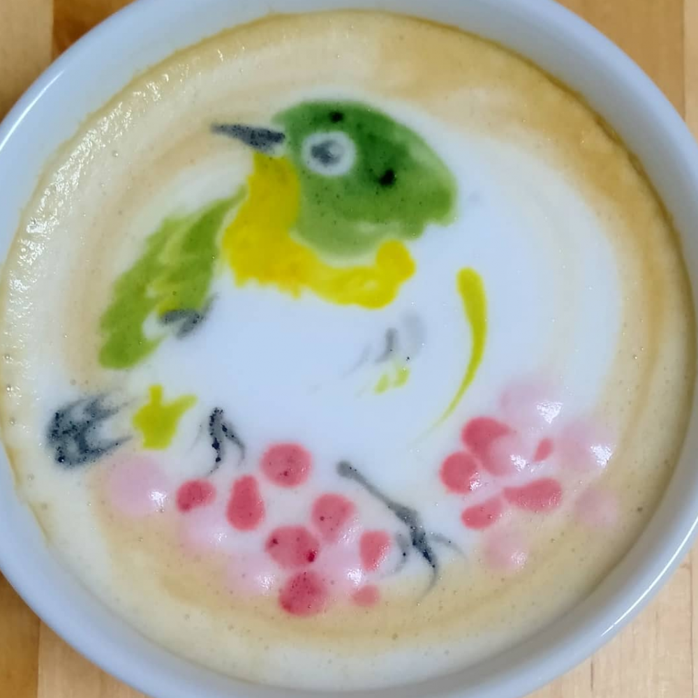 pássaro no café 6
