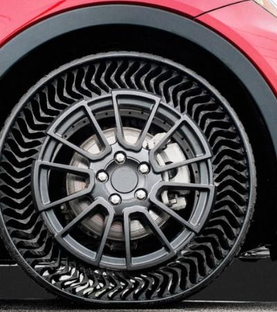 Tecnologia automobilística: Michelin está prestes a lançar pneus sem ar