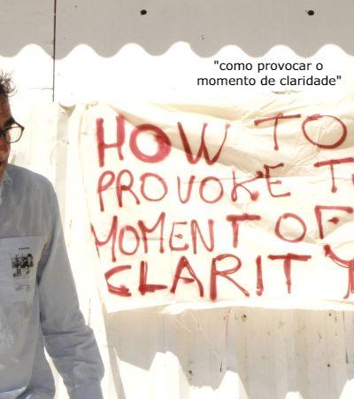 Thierry Geoffroy: 'a arte de emergência e a autocrítica podem salvar omundo'