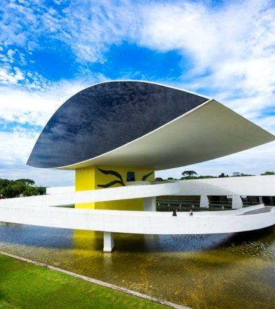 Bar em Curitiba dá chope grátis para quem for visitar museu Oscar Niemeyer