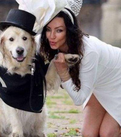 Após 220 dates frustrados, ex-modelo inglesa se casa com cachorro
