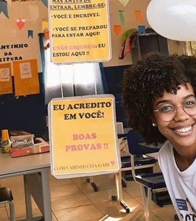 Professora oferece suco de maracujá, material e muito incentivo antes de provas no RJ