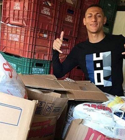 Para combater a fome, atacante da Seleção arrecada 6 toneladas de alimentos