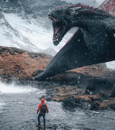 Inspirado em filmes de fantasia fotógrafo cria série de fotos com animais imaginários