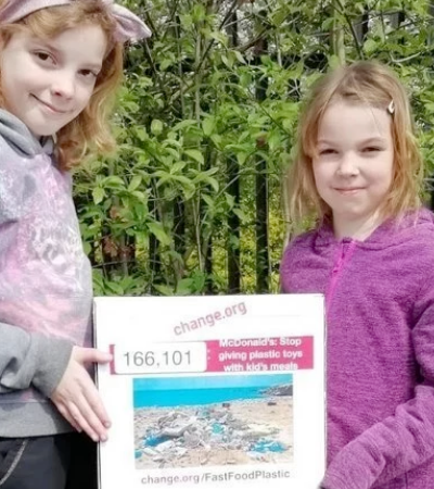 Crianças criam petição contra brinquedos de plástico em fast food