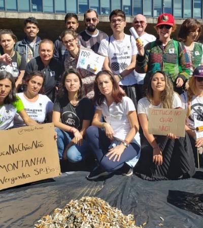 Projeto de coleta recolhe 40 mil bitucas em cidades do Brasil e do mundo
