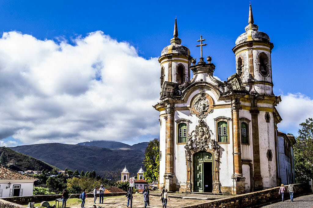 Igreja de São Francisco de Assis, em Ouro Preto.
