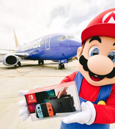 Queremos! Companhia aérea presenteia passageiros com Nintendo Switch