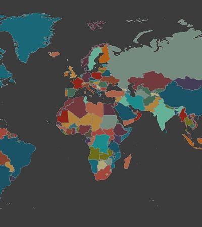 Mapa interativo permite escutar línguas e sotaques do mundo todo