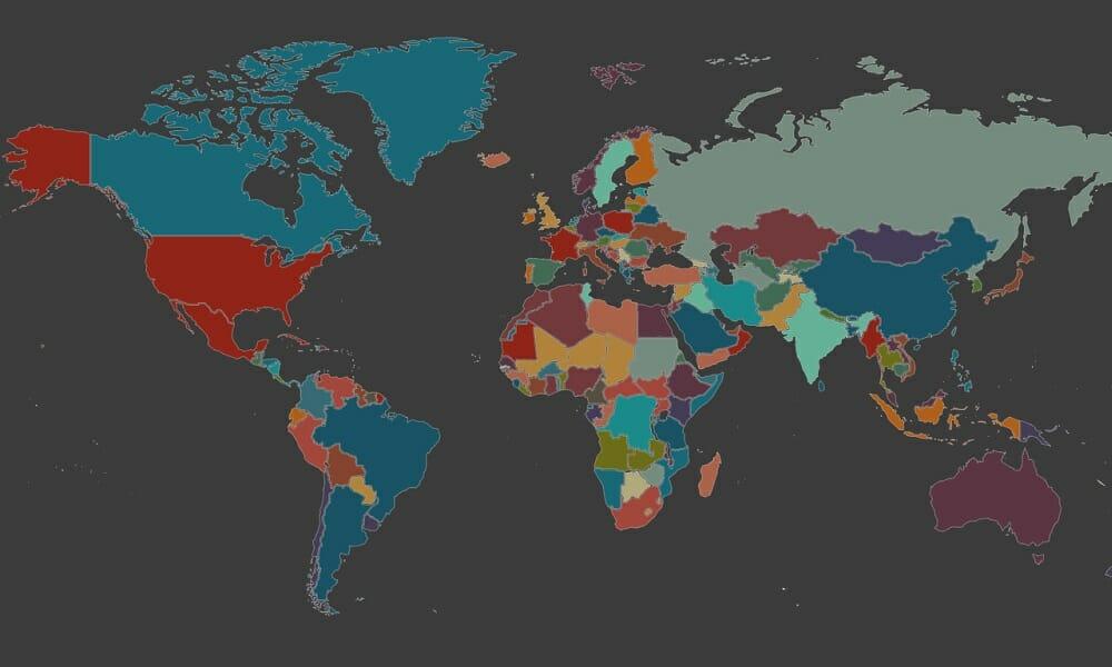Mapa mostra os diferentes sotaques ao redor do mundo