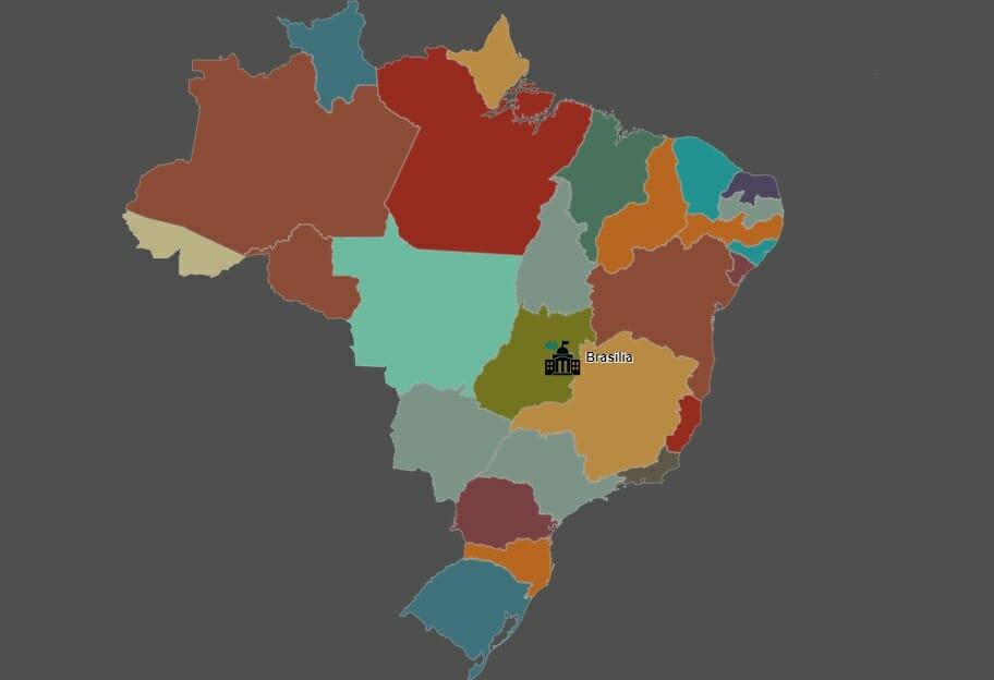 Mapa dos sotaques brasileiro