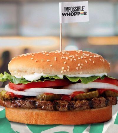 Burger King vai servir hambúrguer vegetal que é idêntico à carne em todo os EUA