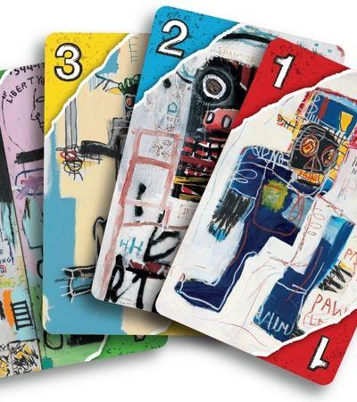 Mattel lança jogo de cartas ilustrado com obras de Jean Micheal Basquiat