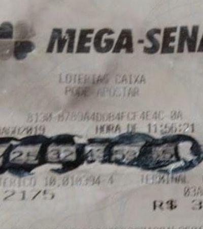 Mulher tenta retirar prêmio da Mega-Sena com falsificação bizarra e viraliza