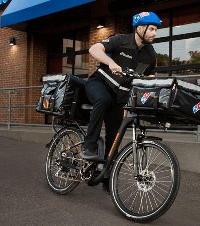 Domino's cria delivery com bicicletas elétricas nos EUA