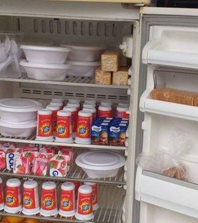 Geladeira solidária oferece alimentos a pessoas em situação de rua no RJ