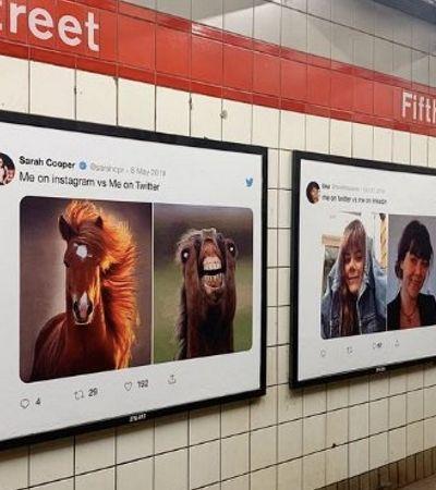 Twitter usa memes de usuários como campanha nos metrôs de NY e San Francisco