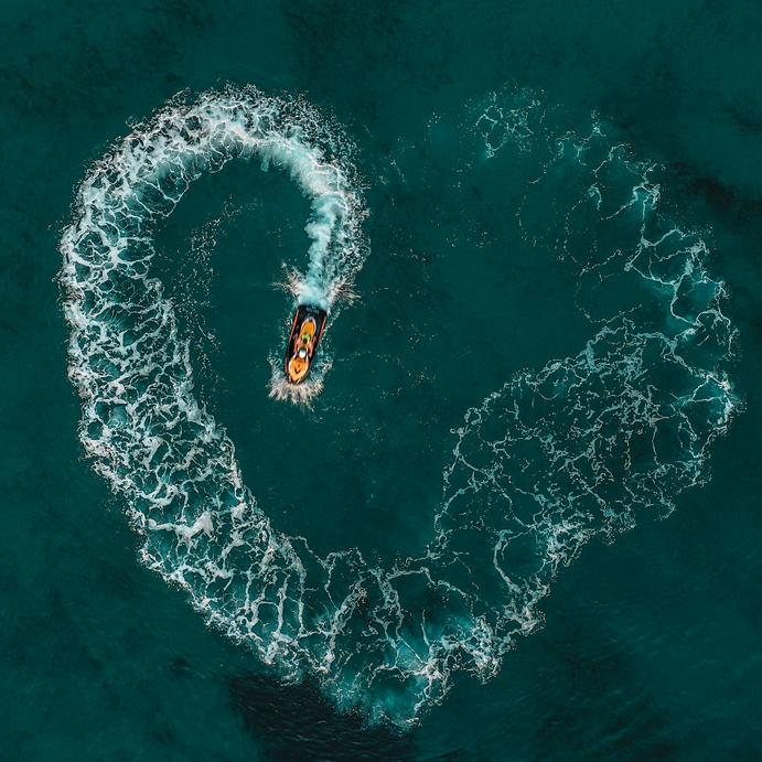 O amor está na água