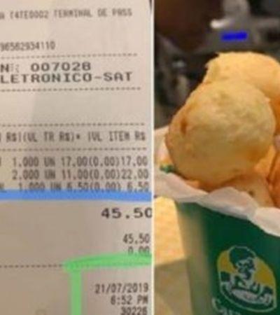 Turista posta preço de café e pão de queijo em aeroporto e viraliza