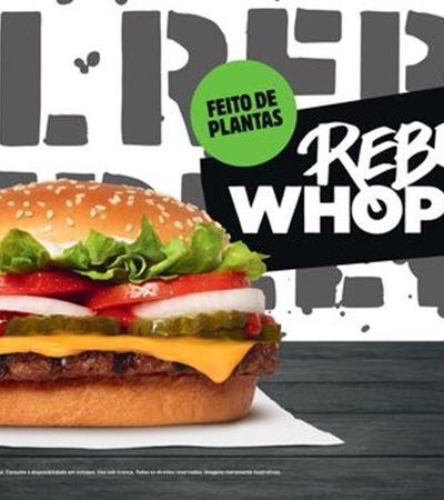 Burger King estreia hambúrguer vegetal idêntico à carne em novembro no Brasil