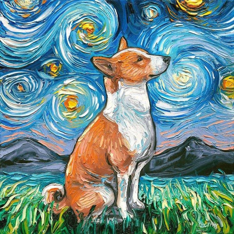 a noite estrelada cachorros 11