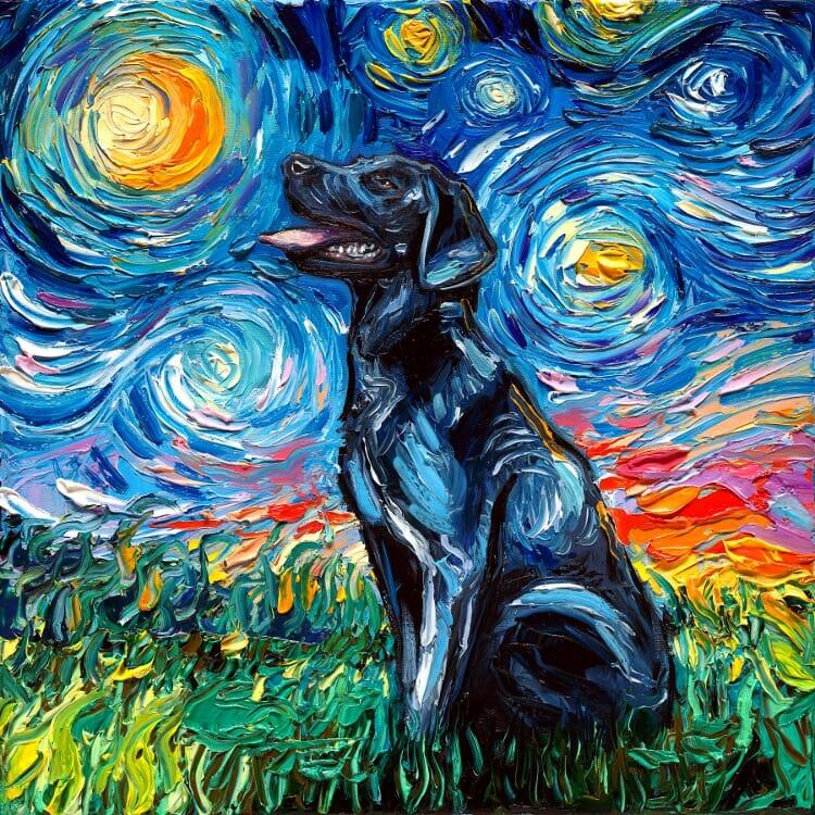 a noite estrelada cachorros 3