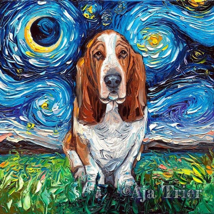 a noite estrelada cachorros 9