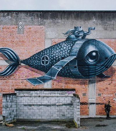 Os animais meigos dos grafites de Hayley Welsh são um abraço da cidade