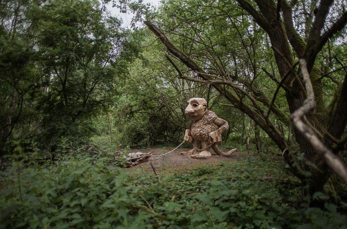 esculturas gigante madeira Bélgica 3