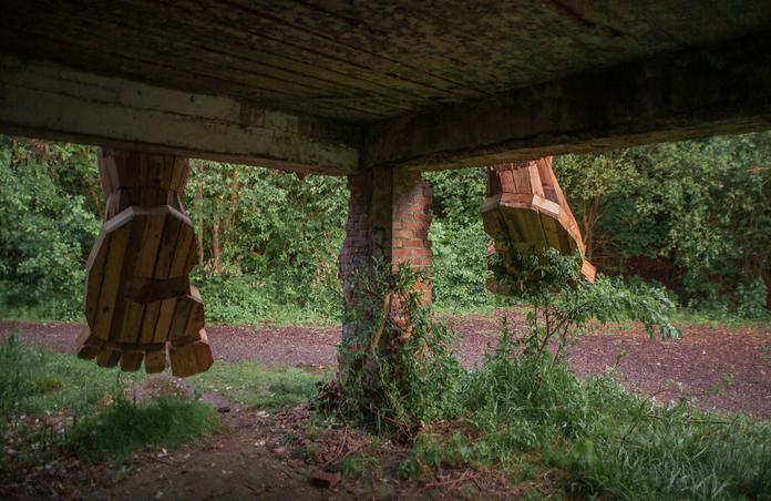 esculturas gigante madeira Bélgica 5