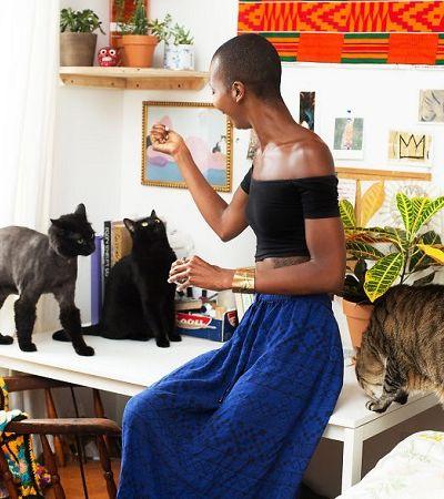 Ela fotografou mulheres com seus gatos para combater o estereótipo da 'louca dos gatos'