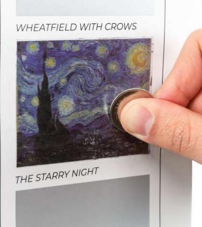 Esse pôster-raspadinha serve para você marcar quadros de Van Gogh já viu 'ao vivo'