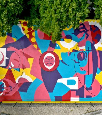 A maravilhosa quadra de basquete que transcende o conceito de street art