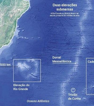 Arquipélago com praia e rio com o triplo do tamanho do RJ é achado submerso no RS