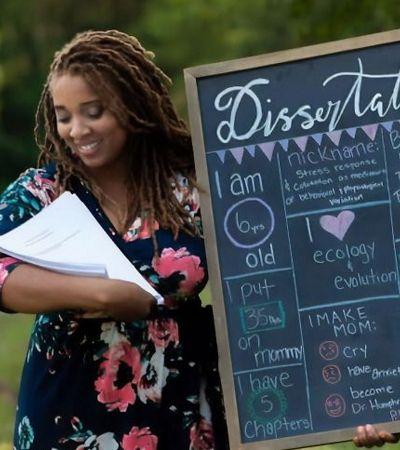 Médica faz ensaio hilário 'de recém nascido' com sua tese de pós-graduação e viraliza