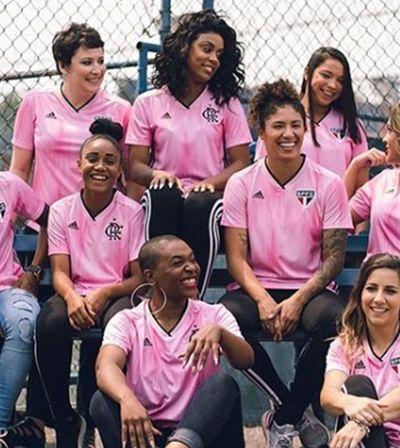 Adidas lança camisas do Flamengo e São Paulo especiais para o Outubro Rosa