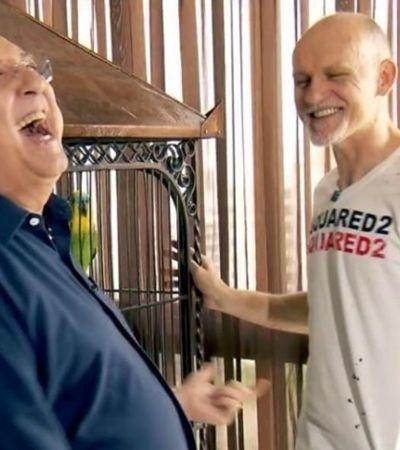 Papagaio de Taffarel manda um 'Sai que é sua!' ao reencontrar Galvão