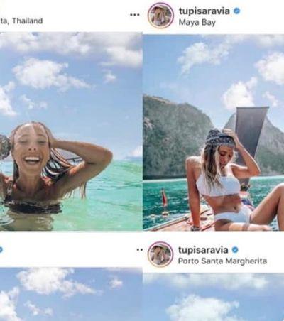 Blogueira de viagens admite montagem após seguidores notarem nuvens artificiais