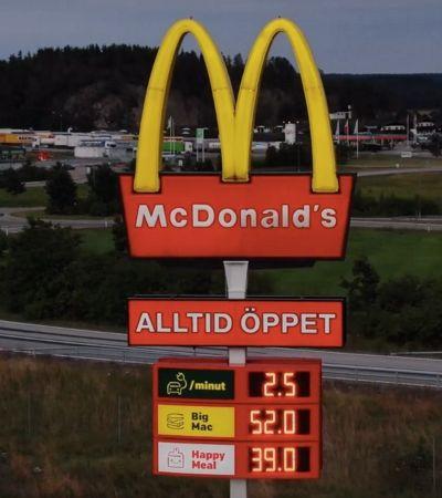 Na Suécia, McDonald's viram postos de carregamento para carros elétricos