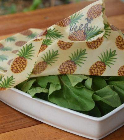Panos encerados são alternativa sustentável ao plástico filme na cozinha