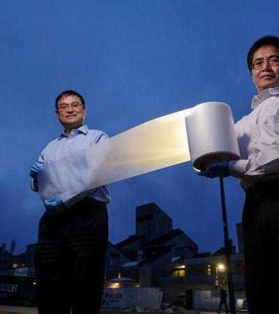 Esta película para telhados substitui o ar condicionado sem consumir energia