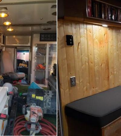Este cara transformou uma ambulância abandonada em sua casa dos sonhos