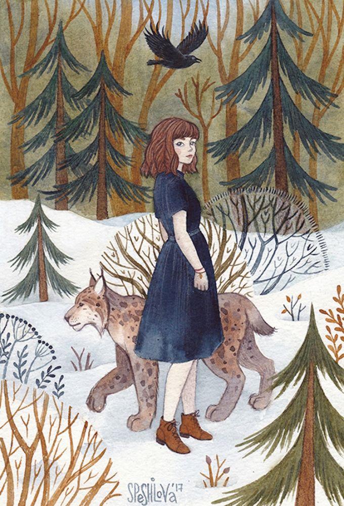aquarela mulheres e animais 9