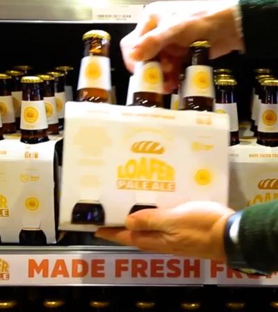 Supermercado transforma pão que não é vendido em cerveja para evitar desperdício