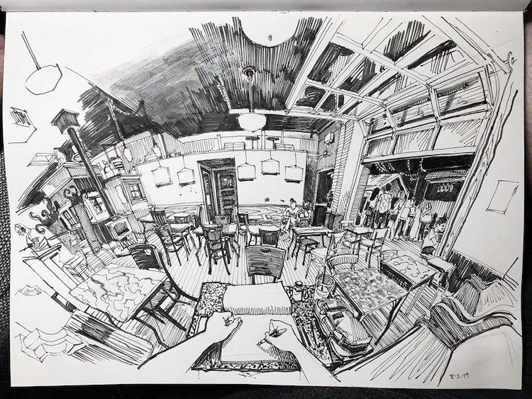 desenhos em perspectiva paul heaston 1
