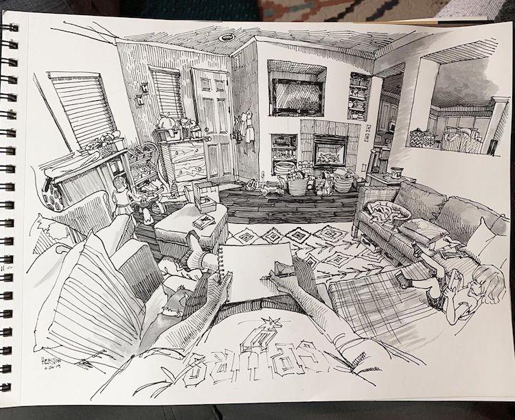 desenhos em perspectiva paul heaston 11