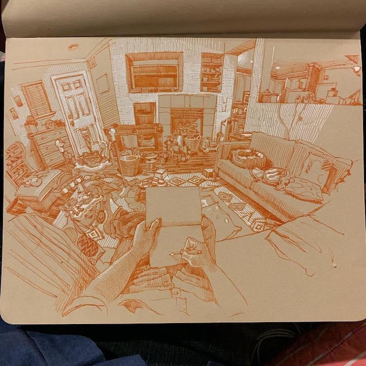 desenhos em perspectiva paul heaston 12